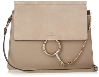 CHLOÉ Faye medium suede and leather shoulder bag $1,950 thestylecure.com