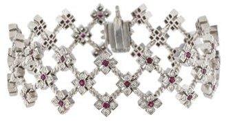 Loree RodkinLoree Rodkin Diamond & Ruby Floral Link Bracelet