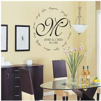 DAY Birger et Mikkelsen Alphabet Garden Designs Personalized Family Encircling Love Monogram Wall Decal