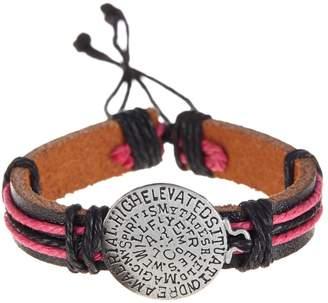 Jean Claude Engraved Faux Leather Bracelet
