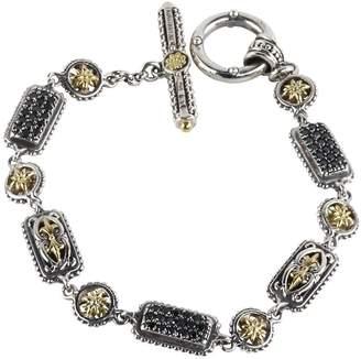 Konstantino Women's Asteri Triple Pavé Black Diamond, Crystal and Sterling Silver Bracelet
