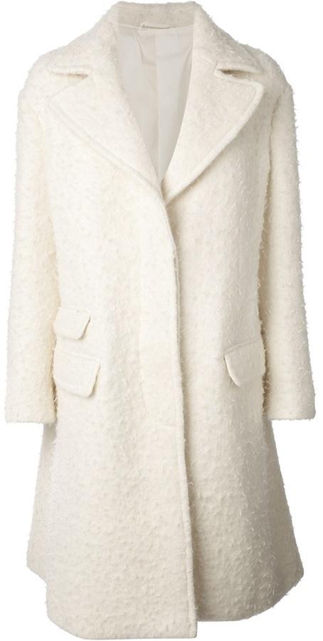 Neil Barrett single breasted overcoat