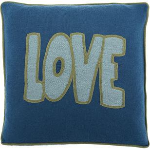 Armand Diradourian Love Pillow- Blue