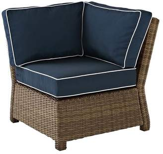 Crosley Bradenton Outdoor Wicker Sectional Corner Chair With Cushions