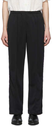 Needles Black Side Line Trousers