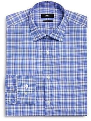 BOSS Multi Plaid Regular Fit Dress Shirt