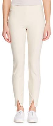 The Row Sorocco Skinny Stretch-Wool Pants with Slit Hem