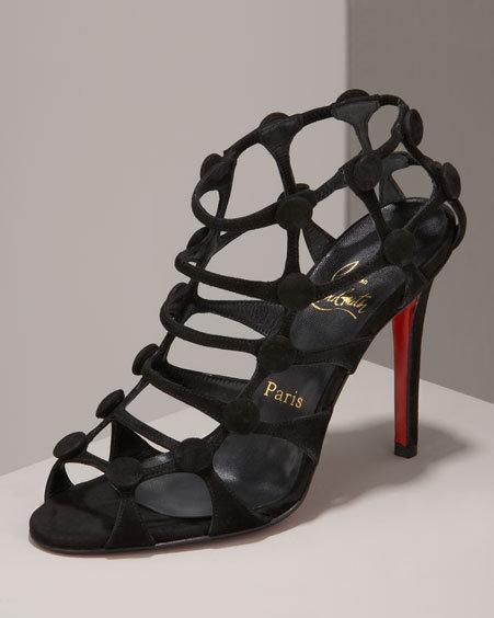 Christian Louboutin Button-Web Strappy Sandal