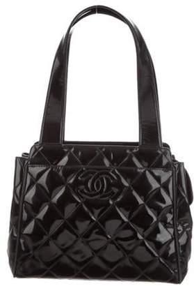 Chanel Patent Leather CC Tote Black Patent Leather CC Tote
