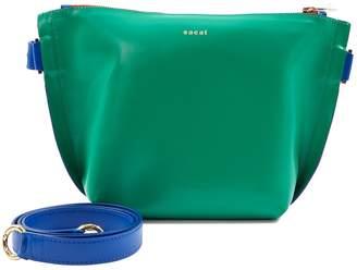Sacai Green Leather Handbag
