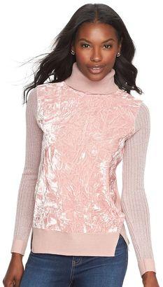 Women's Juicy Couture Velvet Turtleneck Sweater $50 thestylecure.com