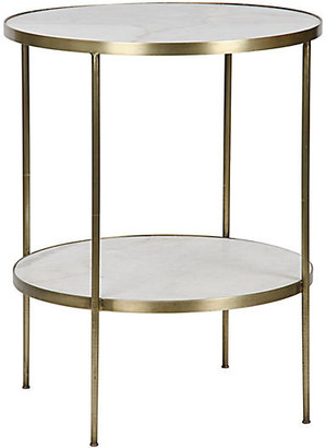 Noir Rivoli Side Table - Antiqued Gold