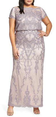 deaaa180aa0 JS Collections Scallop Embroidered Blouson Evening Dress