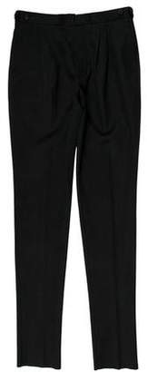 Burberry Flat Front Straight-Leg Pants w/ Tags