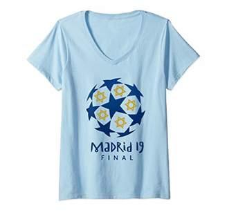 Womens Yid Army Spurs Soccer Jersey Tottenham European Gift V-Neck T-Shirt