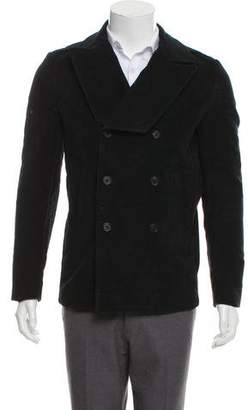 Marc Jacobs Double-Breasted Peak-Lapel Peacoat