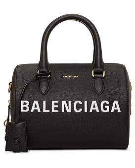 Balenciaga Ville Graffiti Top Handle Bowling Bag S