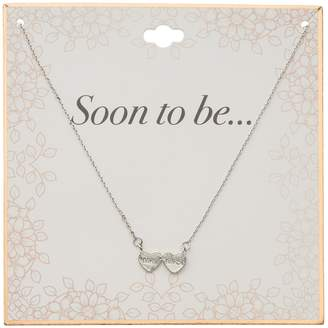 """Silver Tone """"Mr."""" & """"Mrs."""" Double Heart Necklace"""