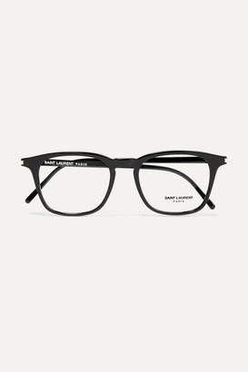 Saint Laurent Square-frame Acetate Optical Glasses - Black