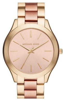 MICHAEL Michael Kors Michael Kors 'Slim Runway' Bracelet Watch, 42mm $195 thestylecure.com
