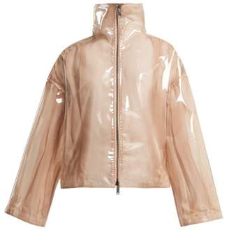 Valentino Stand Collar Semi Sheer Vinyl Jacket - Womens - Beige