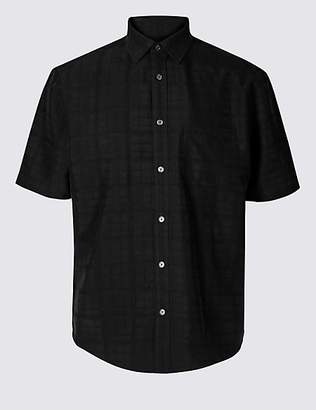 M&S Collection Modal Rich Textured Shirt with Pocket