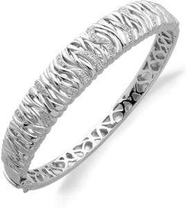 Lord & Taylor Diamond And Sterling Silver Bracelet