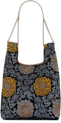 Hayward Mini Shopper On A Chain Brocade Tote Bag