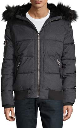 f019bb2da Mens Quilted Bomber Jacket - ShopStyle