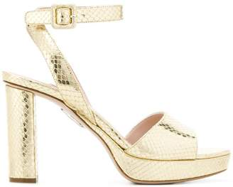 Miu Miu snakeskin effect platform sandals
