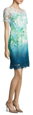 Elie Tahari Laced Organdy Mini Dress $398 thestylecure.com