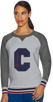 Champion Women's Heritage Fleece Raglan Long Sleeve Top