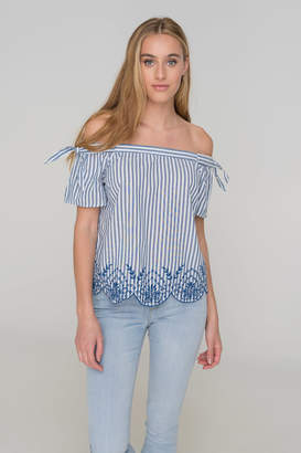 Ardene Nautical Off Shoulder Top