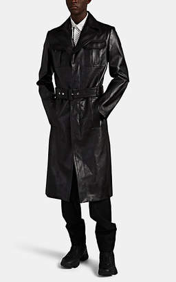 Givenchy Men's Leather Trench Coat - Black