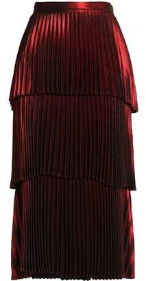 A.L.C. (エーエルシー) - A.l.c. Tiered Pleated Satin Midi Skirt