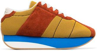 Marni Multi coloured suede mesh sneakers
