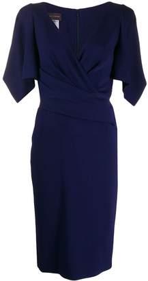Talbot Runhof v-neck wrap dress