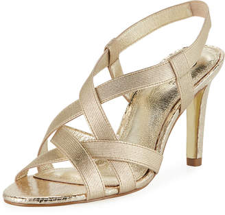 Adrianna Papell Addie Heeled Stretch-Fabric Sandal