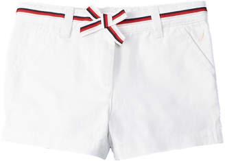 Nautica Girls' White Twill Short