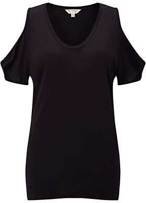 Miss Selfridge Cold Shoulder T-Shirt