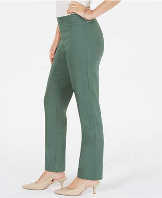 JM Collection Studded Tummy Control Pull-On Pants