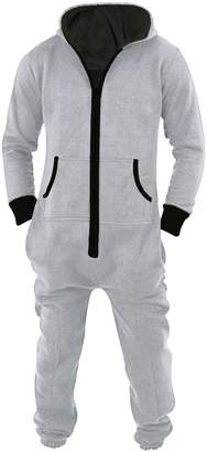 SkylineWears Men's Unisex Onesie Jumpsuit One Piece Non Footed Pajama Playsuit M