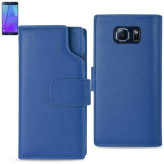 Samsung Reiko Galaxy Note 5 Genuine Leather Wallet Case With Open Thumb Cut In Ultramarine