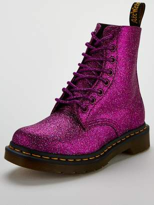 Dr. Martens Glitter 8 Eye Boot - Purple
