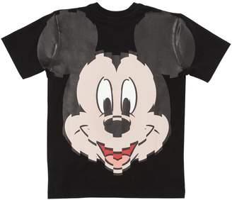 Marcelo Burlon County of Milan Mickey Mouse Print Cotton Jersey T-Shirt