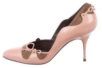 Alexandra Neel Leather Semi-Pointed Toe Pumps