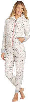 Cuddl Duds Women's Fleece Lined One-Piece Pajamas