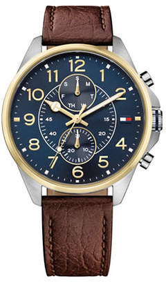 Tommy Hilfiger Dean Multi-Function Leather Watch