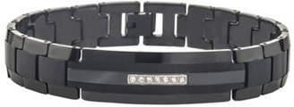 JCPenney FINE JEWELRY 1/10 CT. T.W. Sterling Silver Black & White Diamond Crossover Bracelet