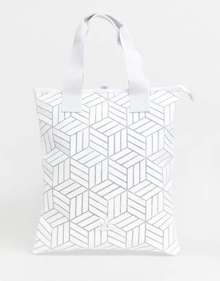 adidas geometric 3D shopper in white